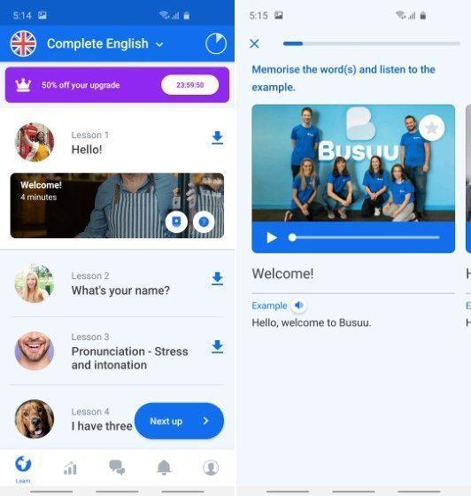 8. Busuu - Melhores aplicativos de aprendizado de idiomas