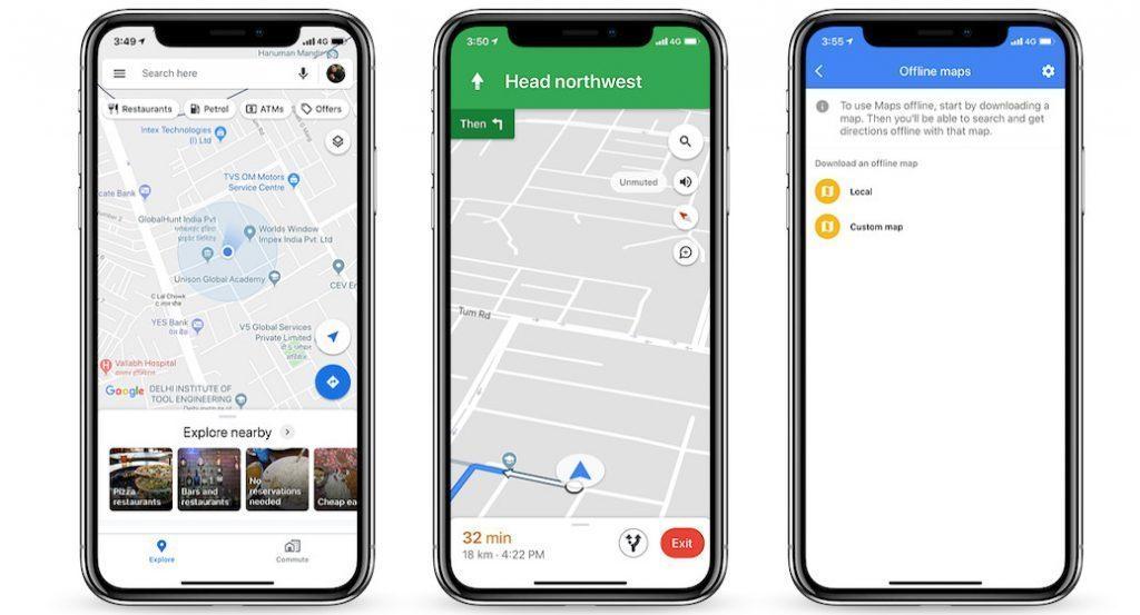 Google Maps - Melhores aplicativos gratuitos de GPS e navegação para iPhone
