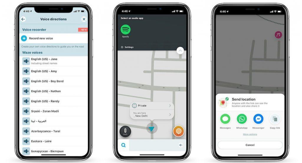 Aplicativo de navegação e GPS do Waze para iOS