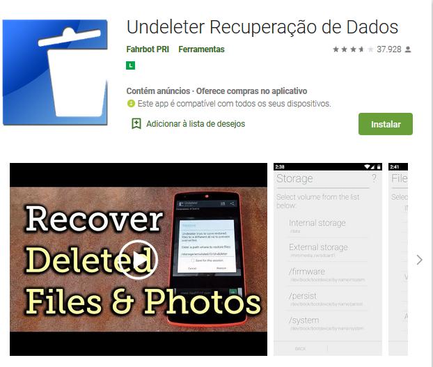 Como Recuperar Arquivo Excluído Do Celular Android