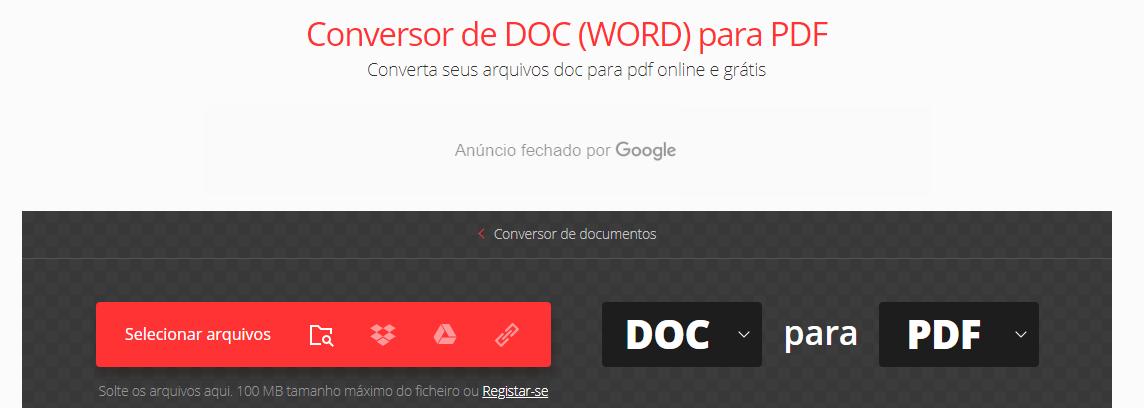 Como Transformar DOC Em PDF